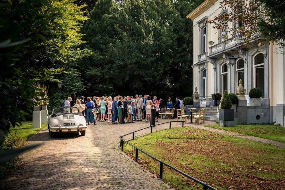 Ovrzicht bruidsfotografie huwelijk op landgoed Wolfslaar