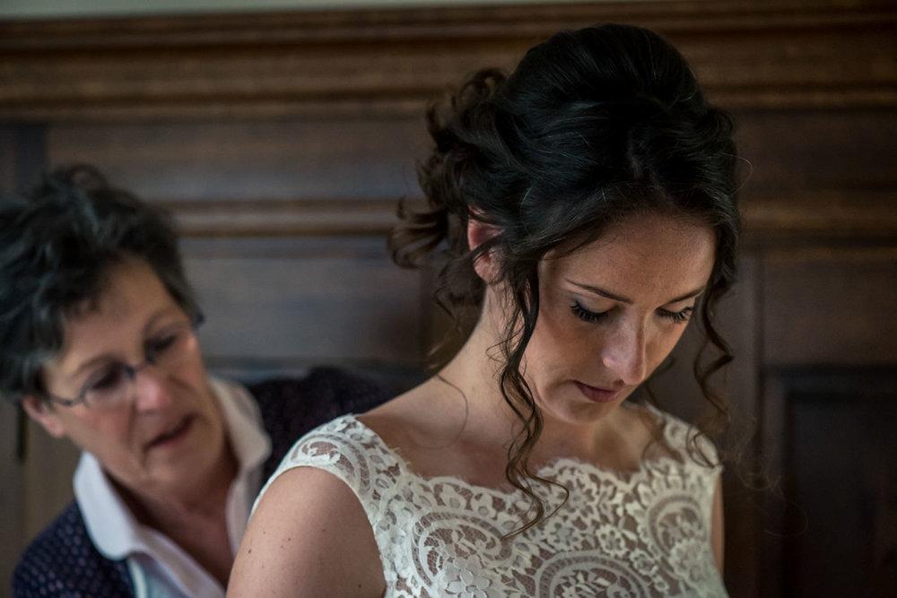 mooie foto van de bruid door cfoto