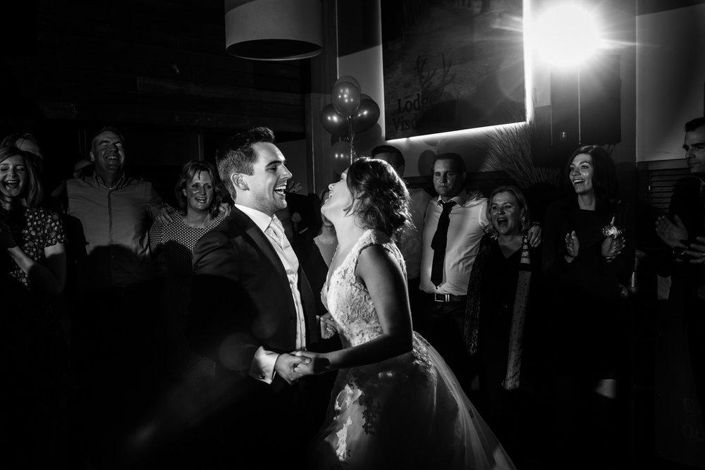 slotfeest in Roosendaal van het bruidspaar op hun trouwfeest
