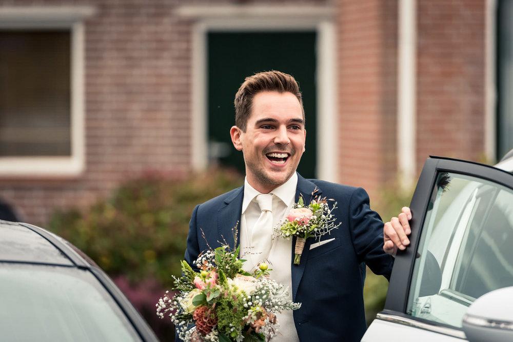 Tijdens het huwelijk wordt de aankomst van de bruidegom vastgele