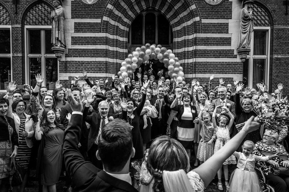 Cfoto maakt spontane groepsfoto bij Bovendonk bruidsfotograaf me