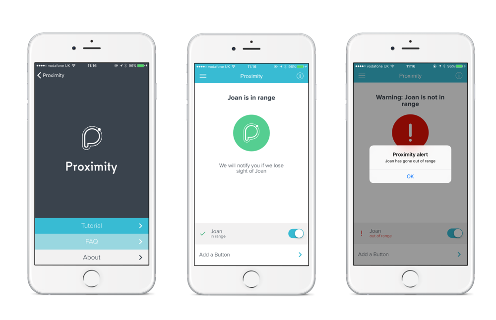 Proximity Care App - available on iOS and Android