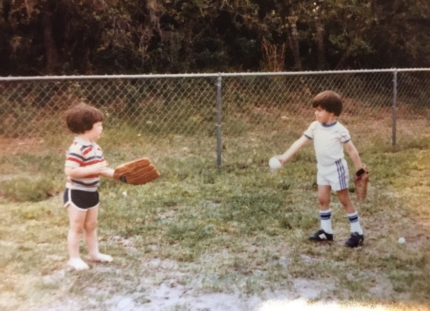 Author and friend circa 1985