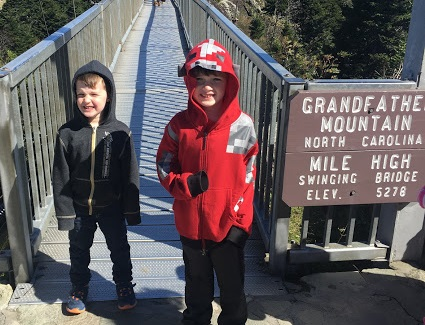 Boys Granfather Mountain Sign.JPG