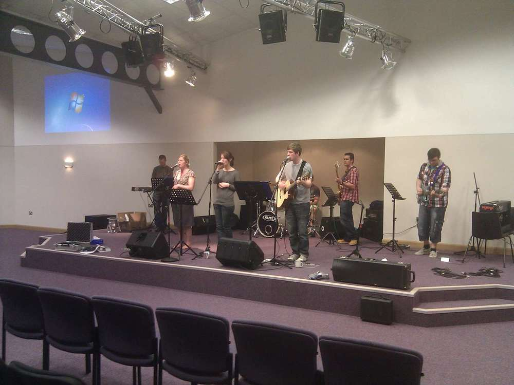 First worship service in the new Vineyard Centre - 2011