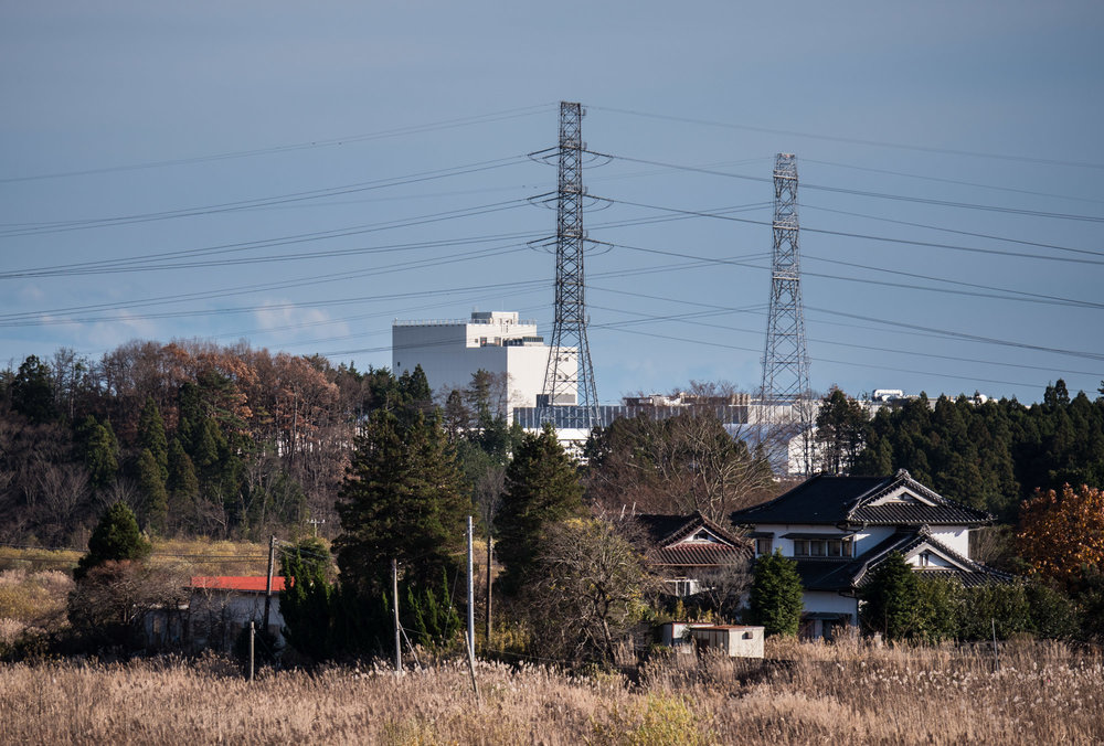 A view of the Fukushima Daiichi plant from Highway 6