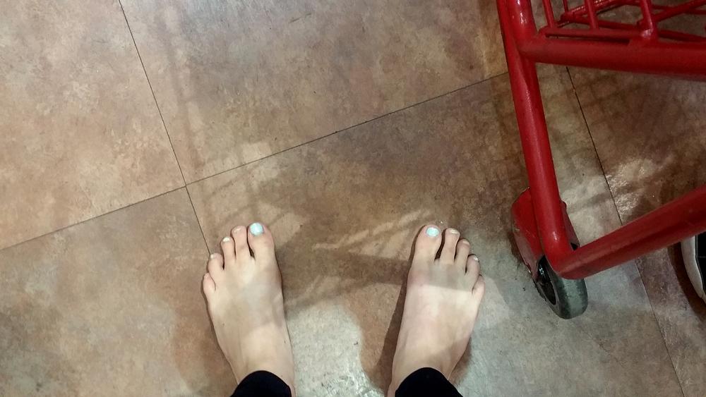 Barefoot at Trader Joe's
