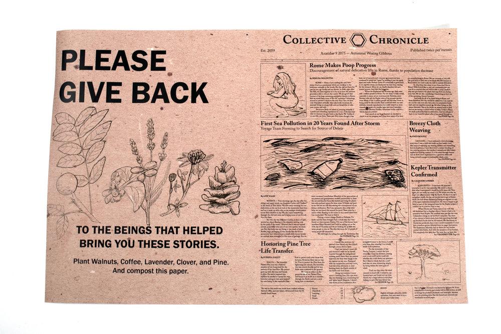 Speculative future newspaper