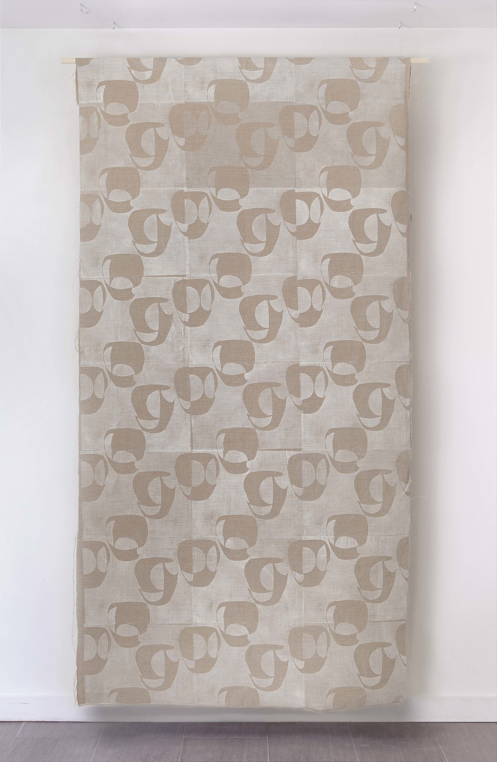 Janis Stemmermann printed linen panel