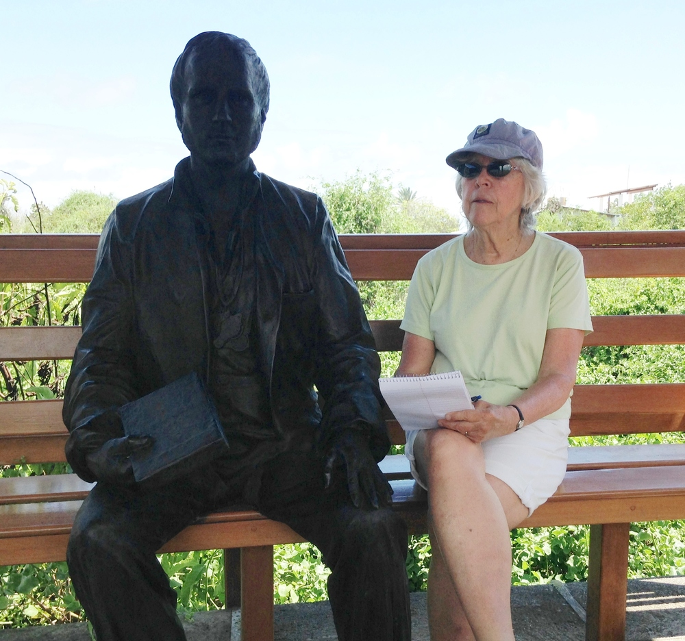 With young Darwin in Galapagos.
