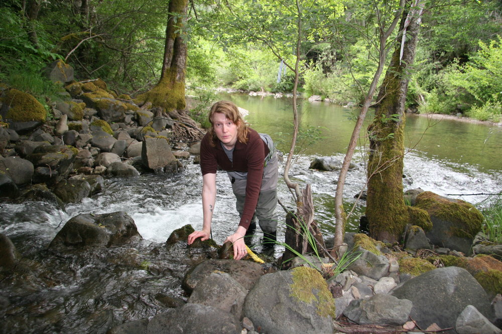 Jen Carah, fish biologist, Garcia River