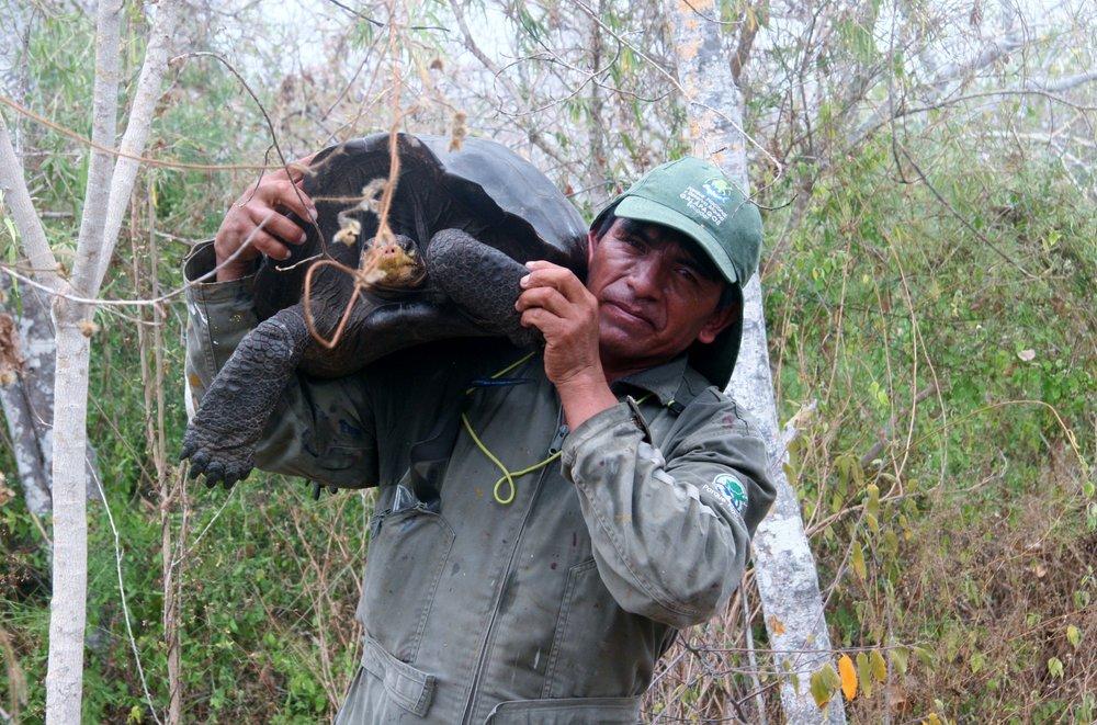 Secundino Masaquizo, ranger, Galapagos National Park