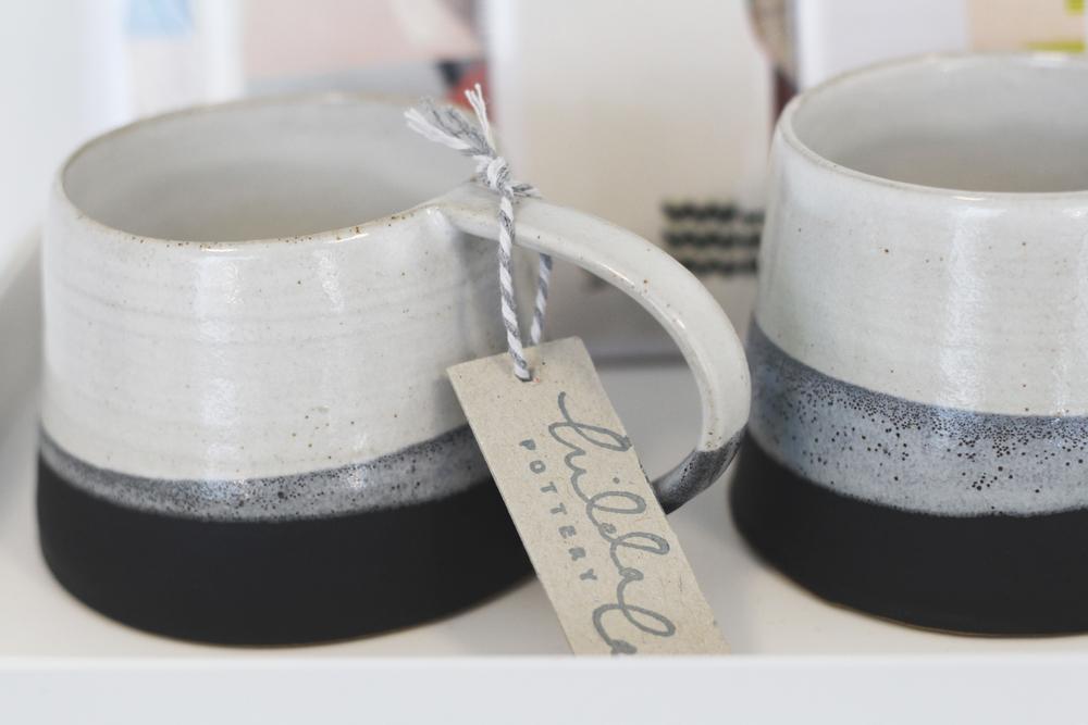 Charcoal mugs with glaze - £16 (each)