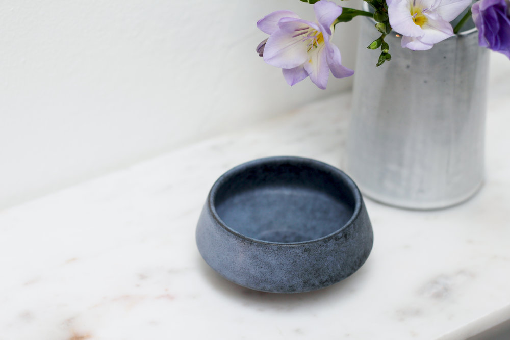 Porcelain Bowl - Grey Stone £8.00