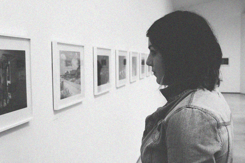 Photo taken of Rachel from our trip to The Hepworth Wakefield, 2014.