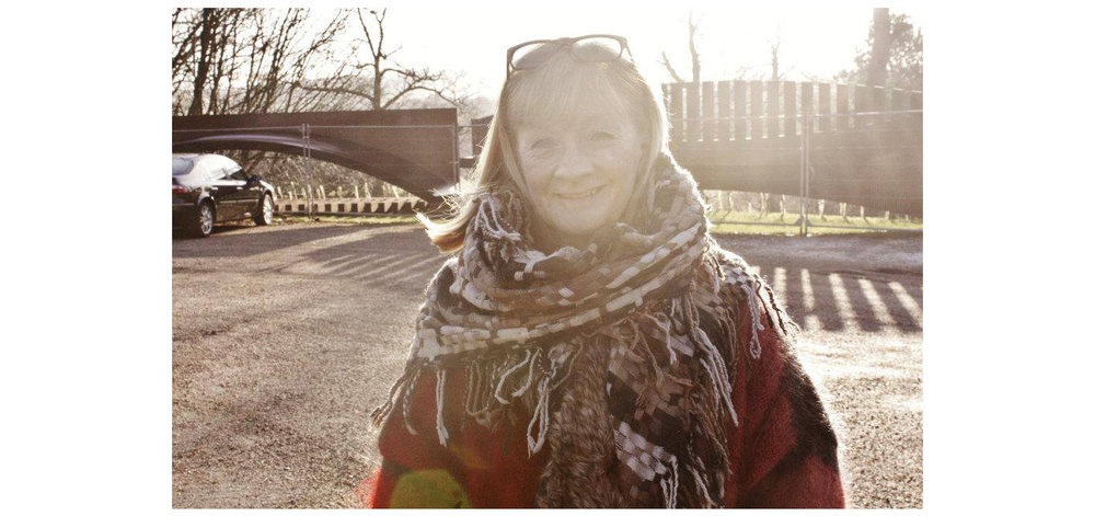 Photo of mum taken on a day trip we had together visiting YSP in 2013.