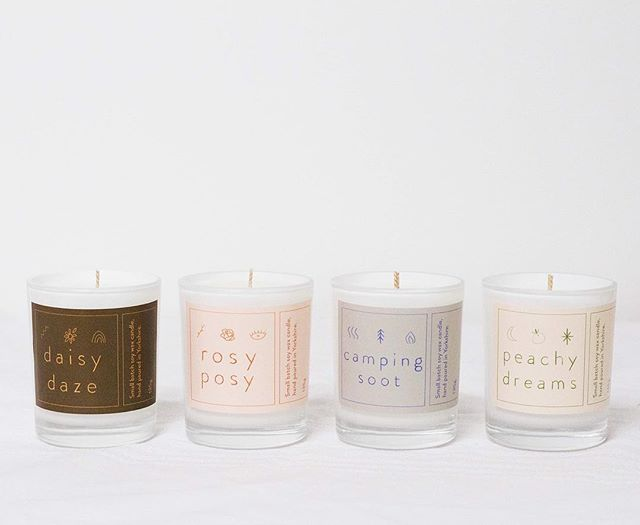 Newness over @hattie.maud - launching the 135g of the soy wax candles at 4pm! ✨