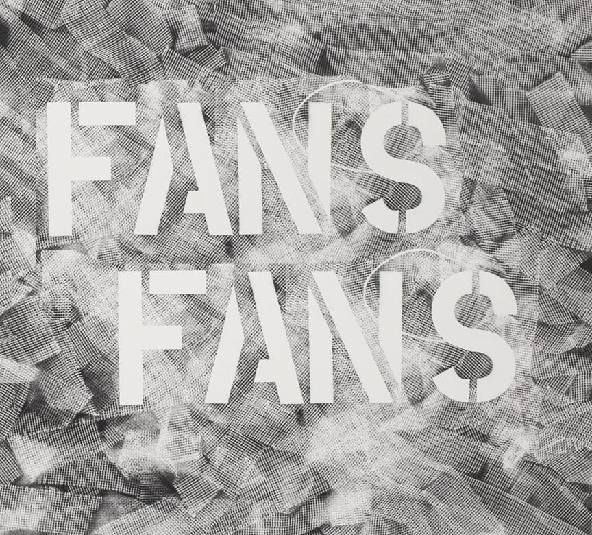 "Fans Fans, Archival print on paper, 26"" W x 24"" H, 2016"