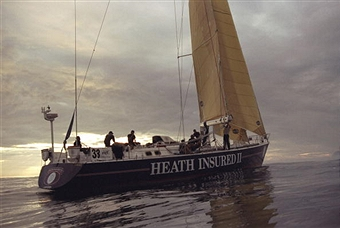 "John's boat ""Heath Insured II"" crossing the line at Rio."