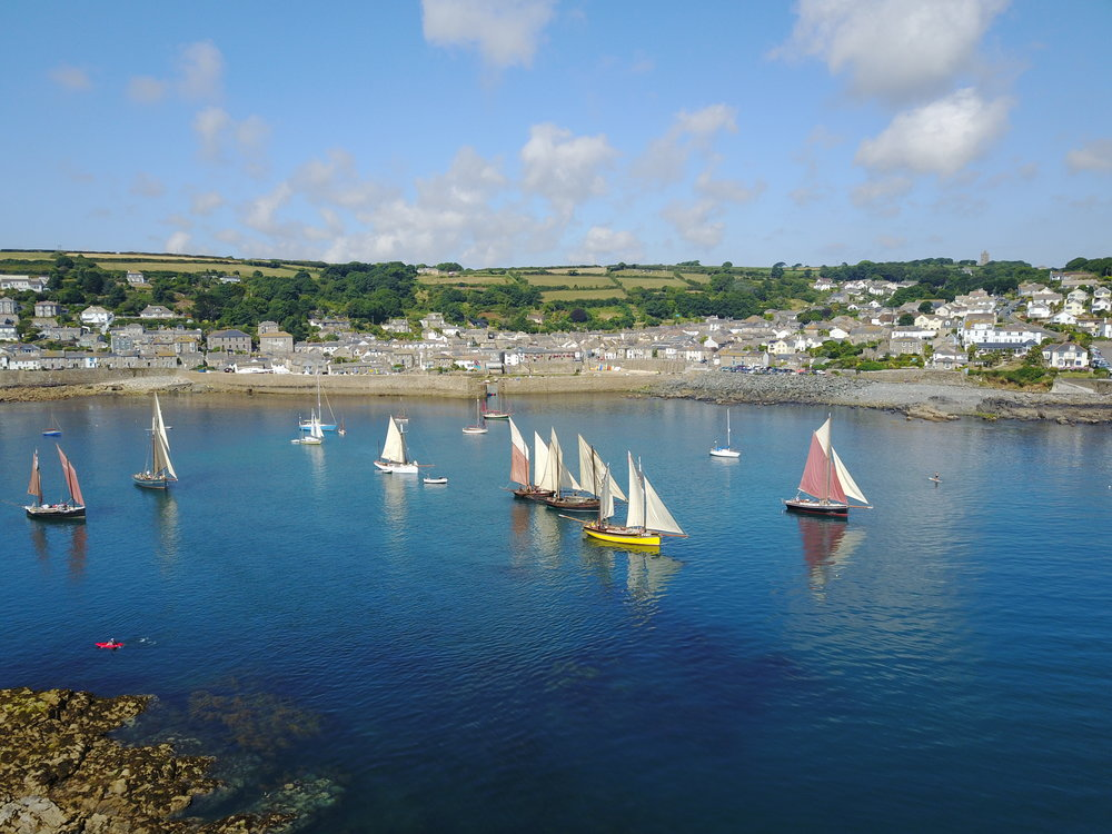 Sea Salts and Sail Mousehole July 2018 Heading for the starting line.JPG