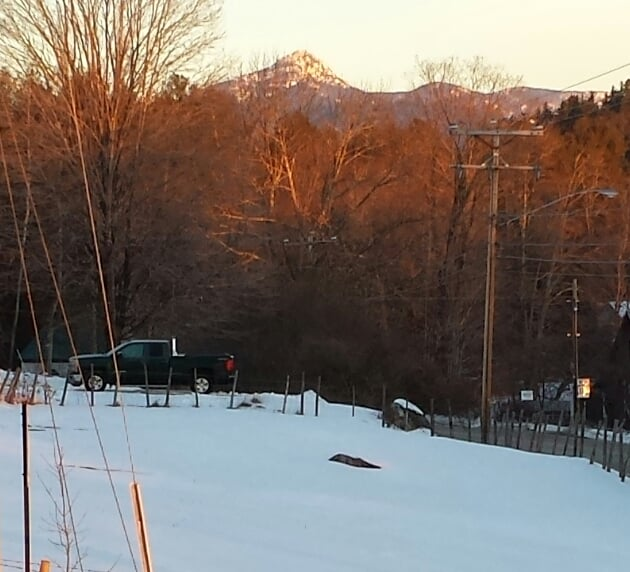 View of Mt Chocorua from The Farmstand