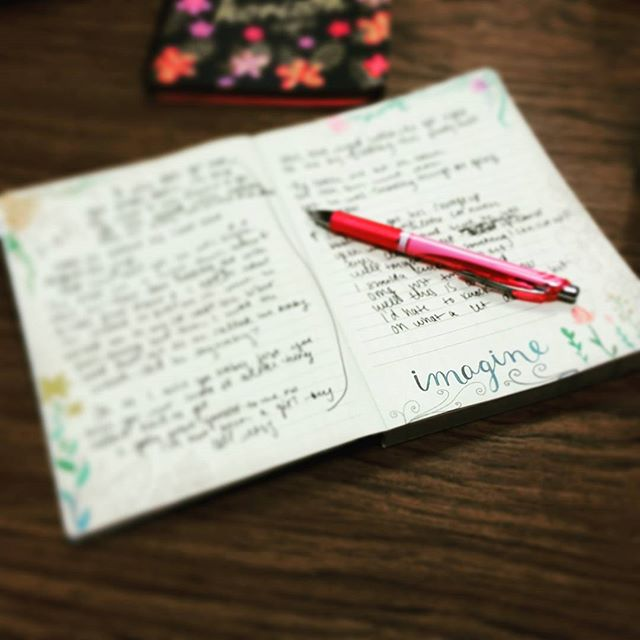 This is what an afternoon of writing music in my new favorite journal looks like... ✏🎵💛 #musichasvalue #music #countrymusic