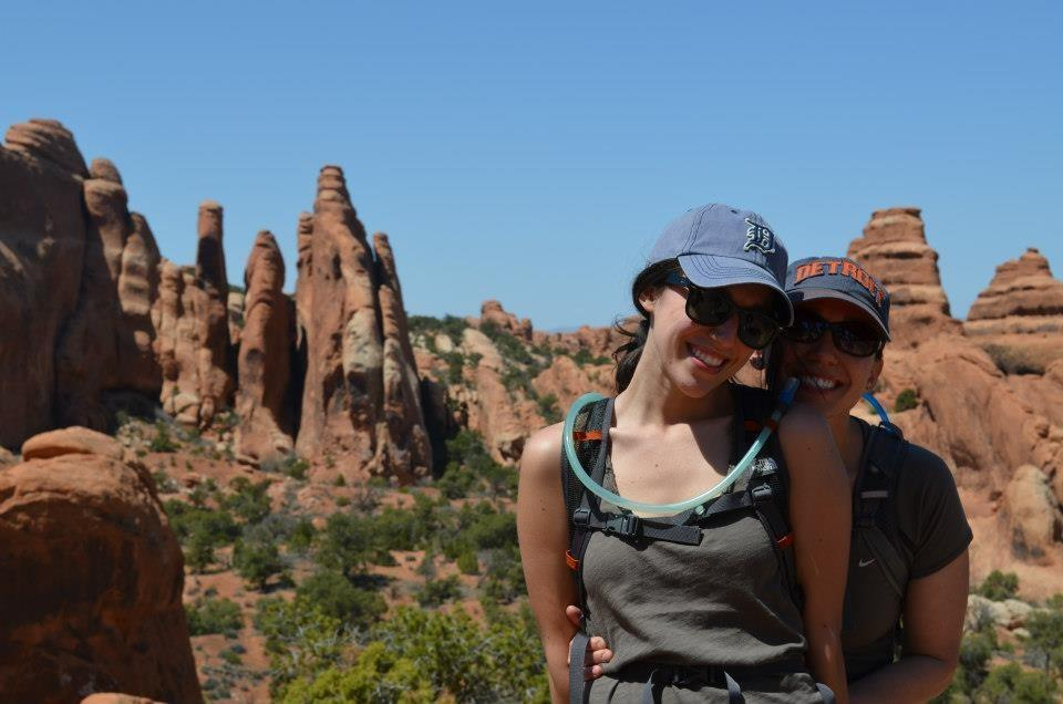 Me and my mom, hiking in Arches National Park.