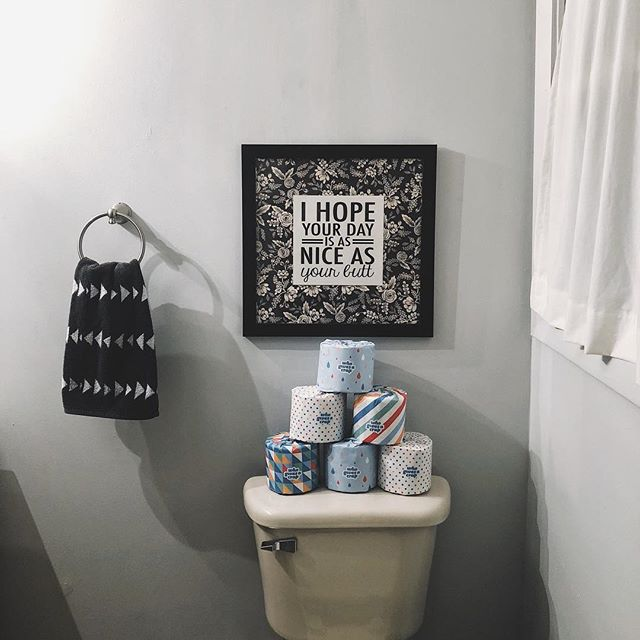 A little bathroom humor goes a long way. But not as long as the impact of a company like @whogivesacraptp who donates half their profits to nonprofit organizations that improve hygiene, water, and basic sanitation in developing countries. We blogged about our experience using this amazing recycled toilet paper 🚽 details and a discount code in our bio 😜 • • • • • • #whogivesacrap #recycledtoiletpaper #savetheworld #recycle #thinkbeforeyouflush #toilethumour #squarespace #blogged #friendswhoblog #makeshiftblog