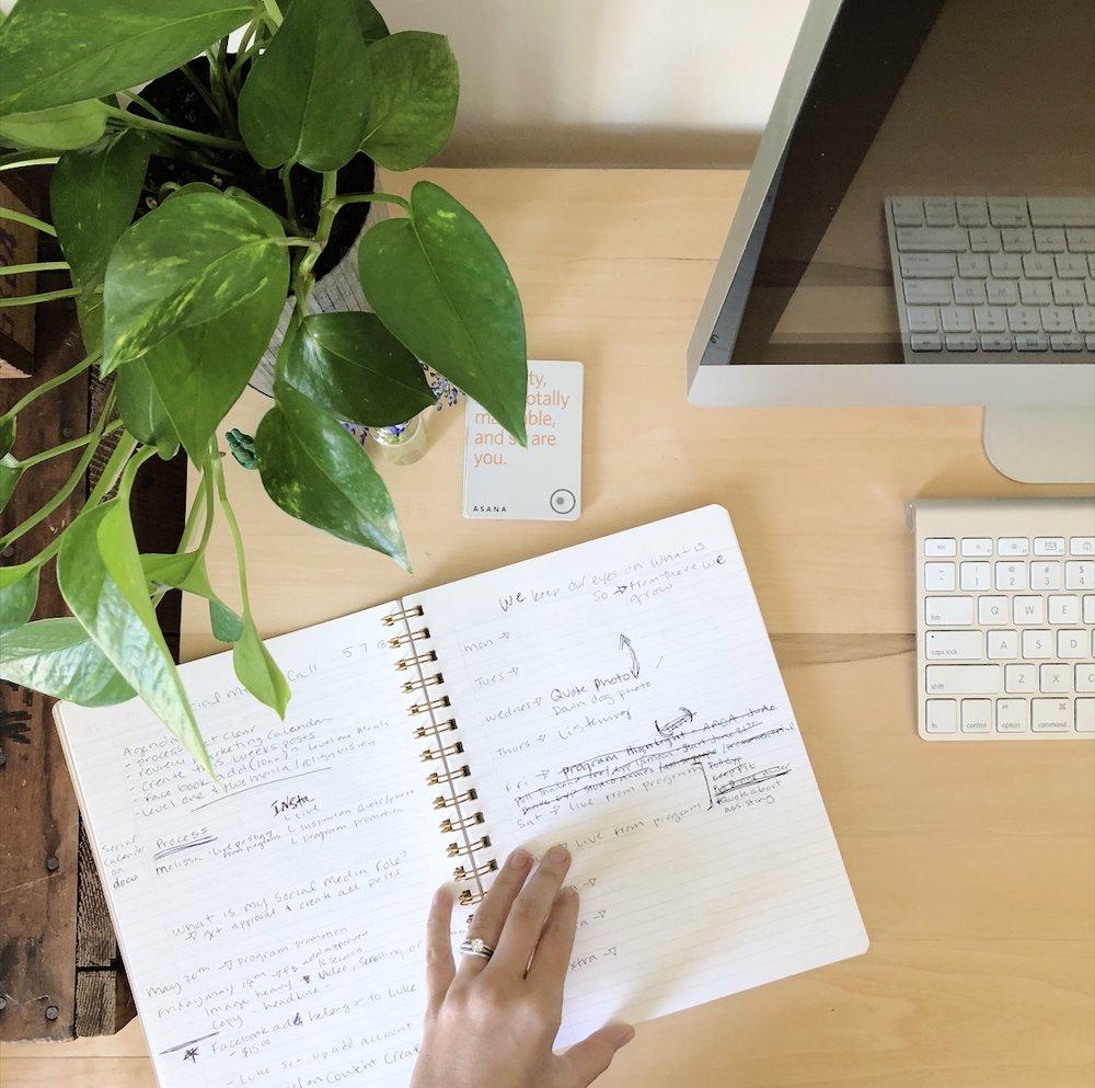 planning, scheduling, list making