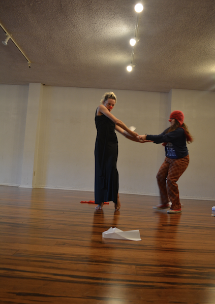 Clown studio showing, Headlong Performance Institute, 2015.