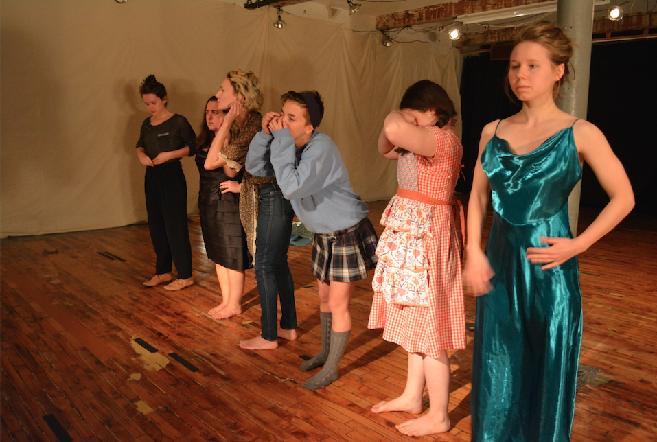 """Where Do My Hands Go? And Other Sweet Nothings"" created by Erica Rice, Headlong Performance Institute Final Show, 2015."