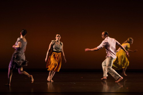 """Homing"" choreographed by Katie Ailes, Bates College 2014. Photo courtesy of Ebbe Sweet."