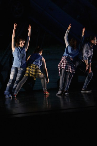"""We Build Excitement"" choreographed by Rachel Boggia and dancers, Bates College, 2014. Photos courtesy of Phyllis Graber Jensen/Bates College."