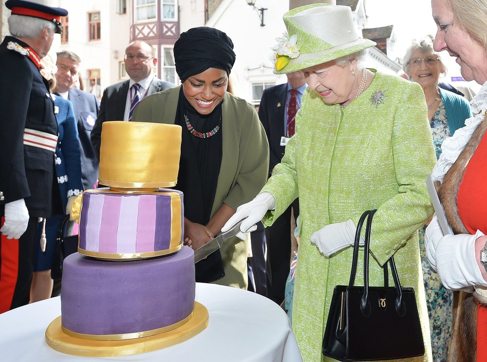 queen's 90th birthday windsor cake