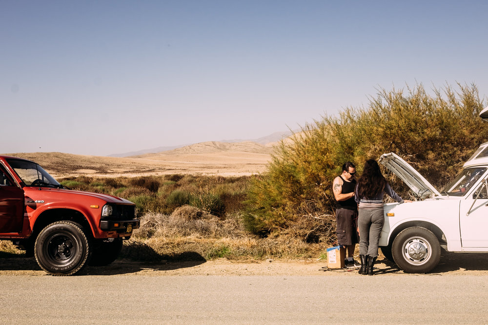 And then we drove off through the desert and straight to the nearest In'N'Out...