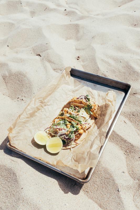 vegan fish taco sand
