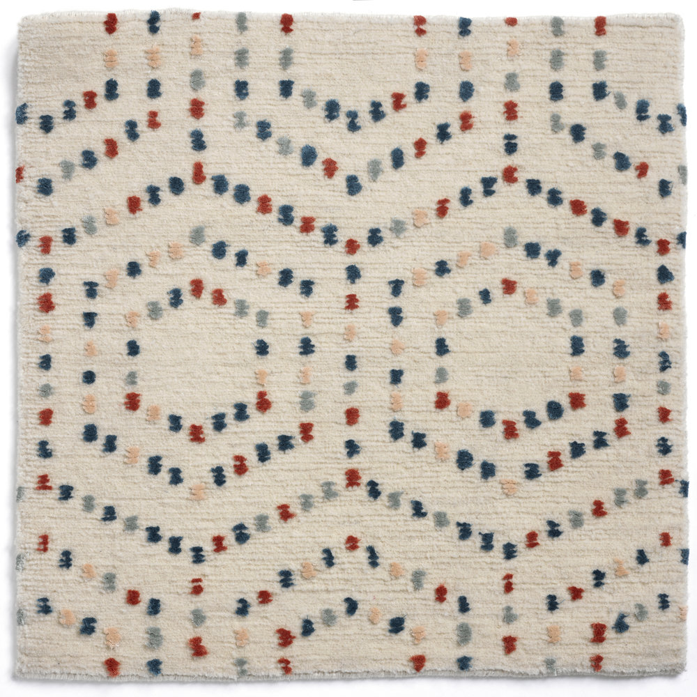 The Meraki Collection, hand knotted wool carpets. Detail, Crete- Balos. Photo Paul Godwin
