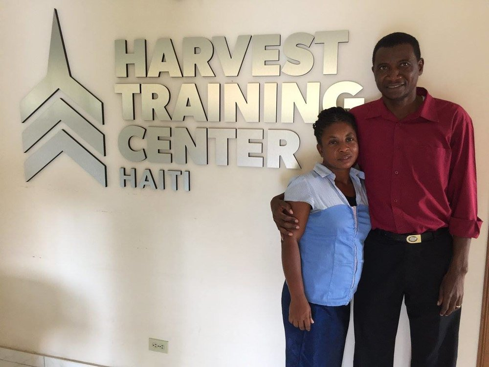 Pastor Carnold and his wife Souzette at the HTC in Jacmel