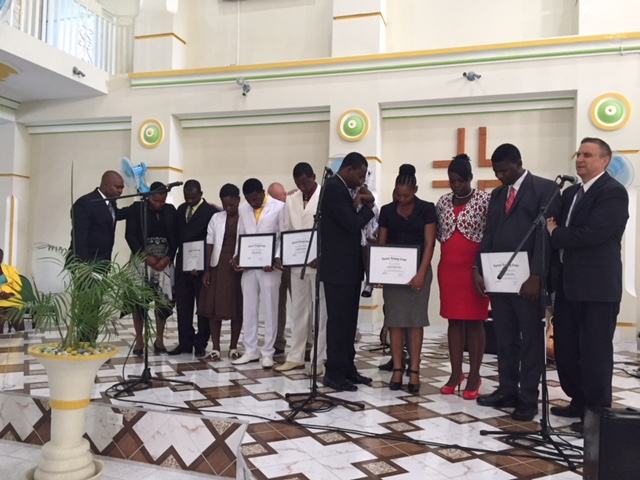Summer 2017 graduation ceremony at Harvest Jacmel