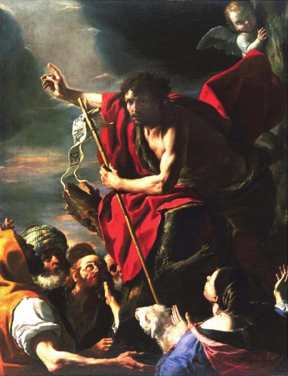 John the Baptist Preaching by Mattia Preti c. 1665