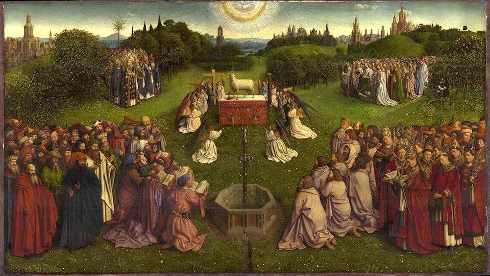 Worthy is the Lamb from Ghent Altarpiece by Jan van Eyck - 1432.jpg