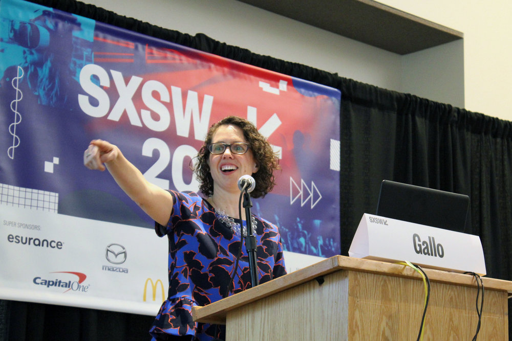 Amy speaking at SXSW