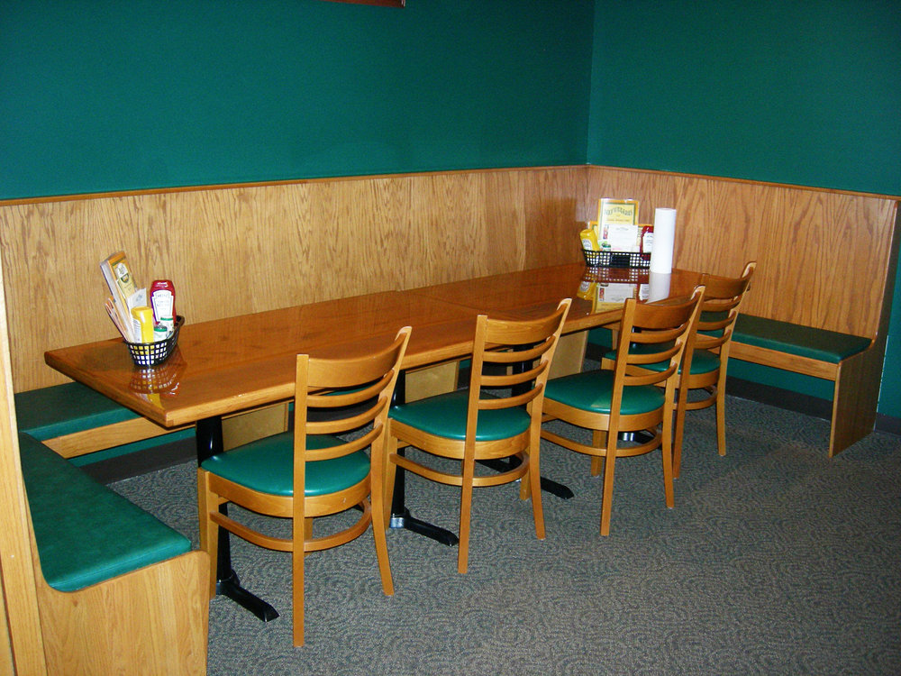 Beef O' Brady's Table Top and Booth by Eash Design