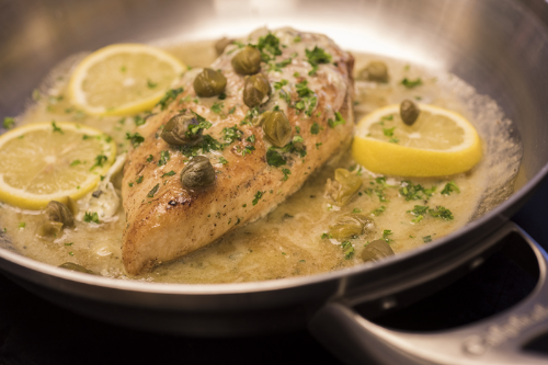 Chicken Piccata made with Lemon Garlic & Herb Butter.