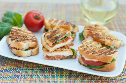 Caprese Sandwiches with Tuscan Herb Butter -