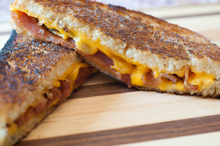 (Slightly Sweet) Grilled Cheese with Bacon