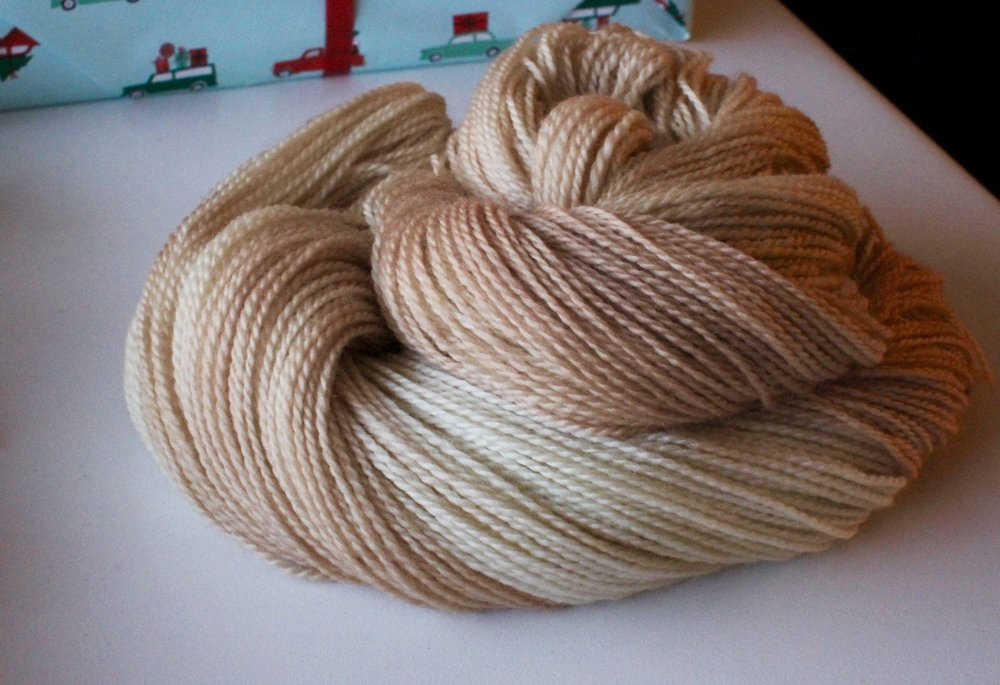 meadow's Onion skin dyed wool!