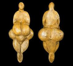 goddess figurine with incised string skirt