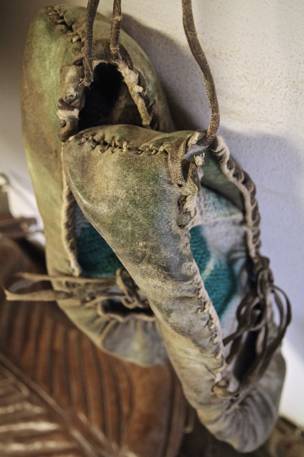 Traditional Icelandic fish skin shoes. Photo courtesy of Meadow Coldon.