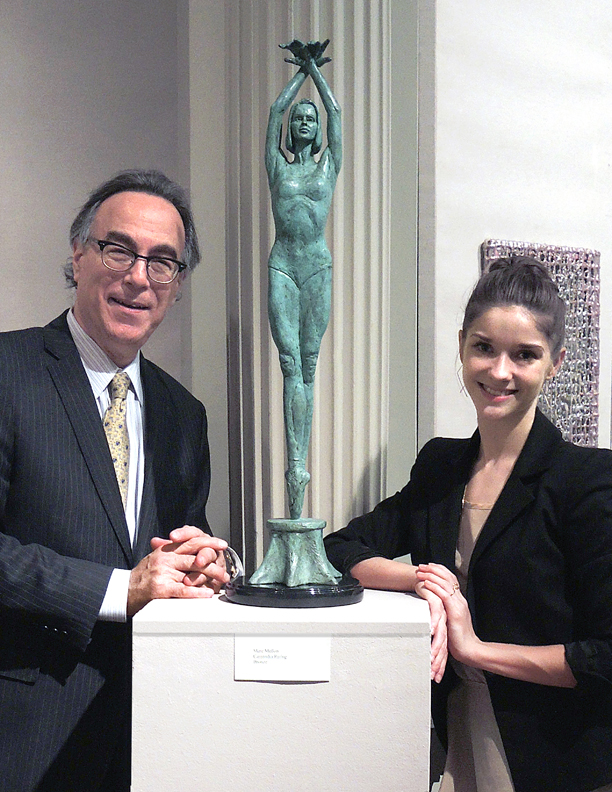 Marc poses with Cassandra Trenary, Soloist, American Ballet Theatre and new Sculpture, Cassandra Rising.